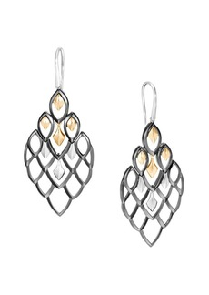 John Hardy Legends Naga 18K Yellow Gold & Sterling Silver Drop Earrings
