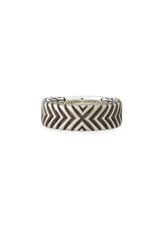 John Hardy Men's Bedeg Linear Triangle Band Ring  Size 10