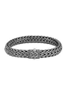 John Hardy Men's Classic Chain Diamond Pave Bracelet, Size M-L