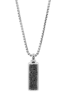 John Hardy Men's Classic Chain Pendant Necklace with Black Sapphire