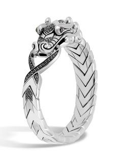 John Hardy Men's Legends Naga Dragon Sterling Silver Bracelet with Spinel