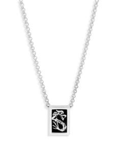John Hardy Naga Sterling Silver & Black Onyx Pendant Necklace