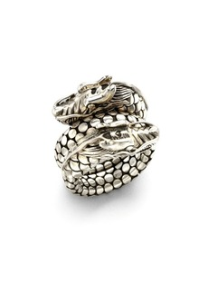 John Hardy Naga Sterling Silver Dragon Dot Coil Ring