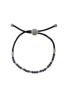 John Hardy Silver Classic Chain Lapis Lazuli Bead Pull Through Bracelet