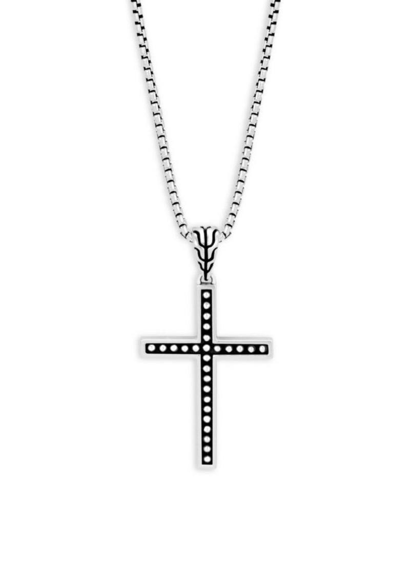 John Hardy Silver Classic Cross Pendant Necklace