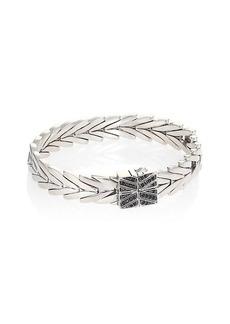 John Hardy Sterling Silver & Black Sapphire Link Bracelet
