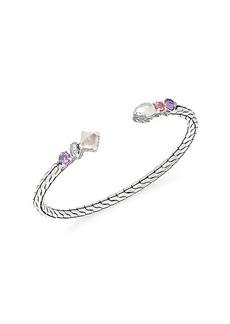 John Hardy Sterling Silver & Multi-Stone Cuff Bracelet