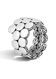 John Hardy Sterling Silver Dot Double Coil Ring - Size 7