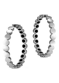 John Hardy Sterling Silver Dot Medium 35mm Hoop Earrings