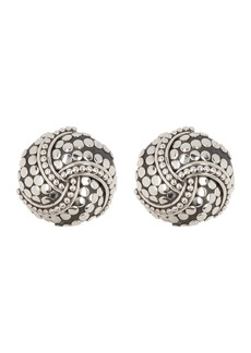 John Hardy Sterling Silver Dot Rounded Twirl Earrings
