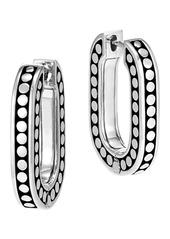 John Hardy Sterling Silver Dot Small Link 21mm Hoop Earrings