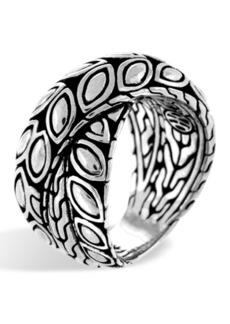 John Hardy Sterling Silver Padi Twist Ring - Size 7