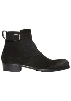 John Varvatos 30mm Fringed Suede Ankle Boots