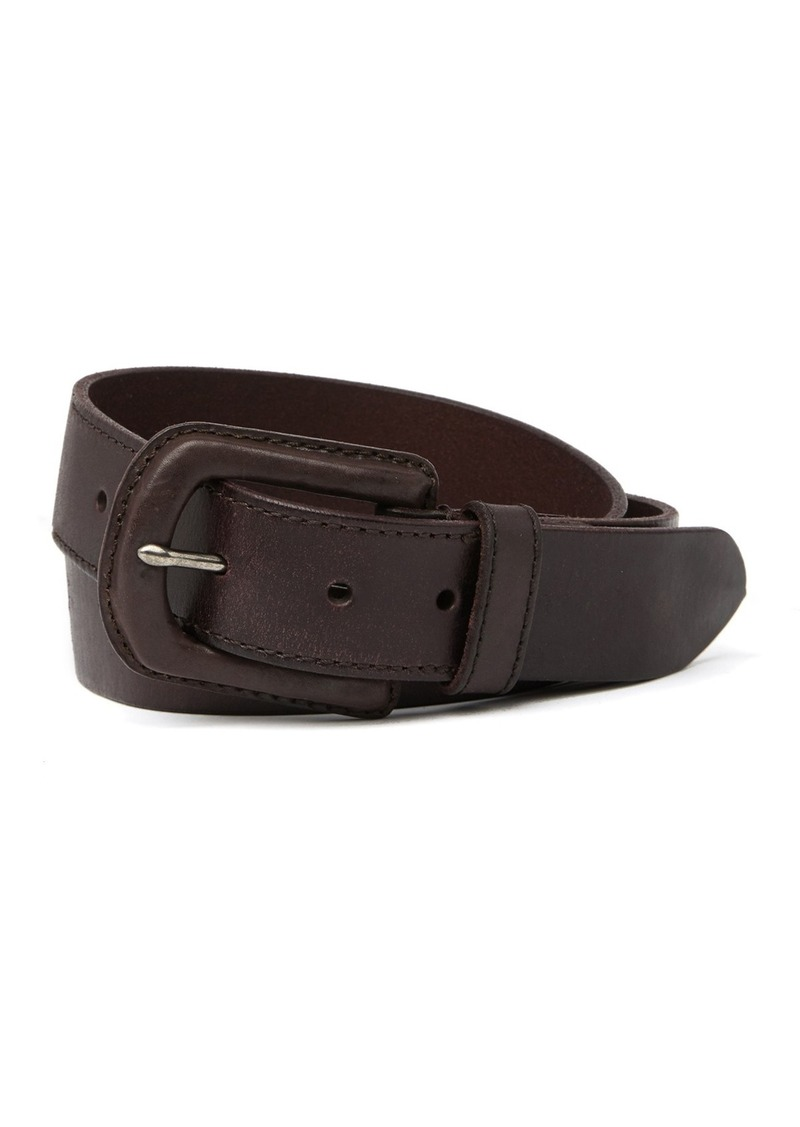 John Varvatos 38mm Leather Covered Buckle Belt