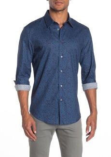 John Varvatos Abstract Print Slim Fit Sport Shirt