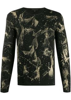 John Varvatos abstract print sweatshirt