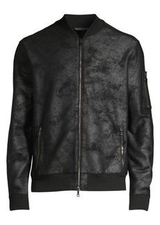 John Varvatos Acid Wash Bomber Jacket