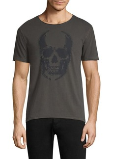 John Varvatos Appliqué Skull Graphic Tee