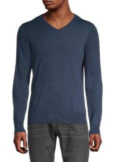 John Varvatos Arlington Melange V-Neck Sweater