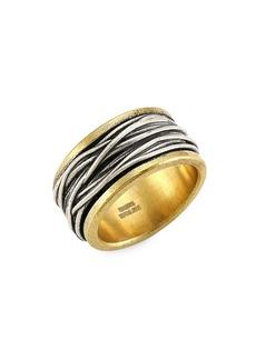 John Varvatos Artisan Metals Brass & Sterling Silver Ring
