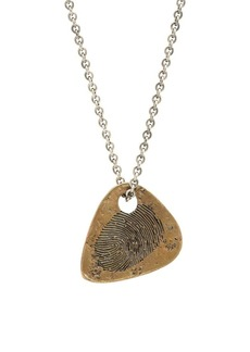 John Varvatos Artisan Metals Brass Guitar Pick Pendant Necklace