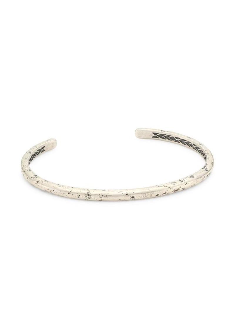 John Varvatos Artisan Metals Silver Cuff Bracelet
