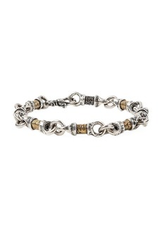 John Varvatos Artisan Metals Sterling Silver Bead Link Bracelet