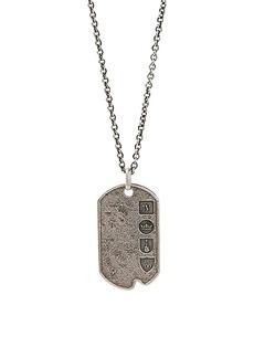 John Varvatos Artisan Metals Sterling Silver Dog Tag Necklace