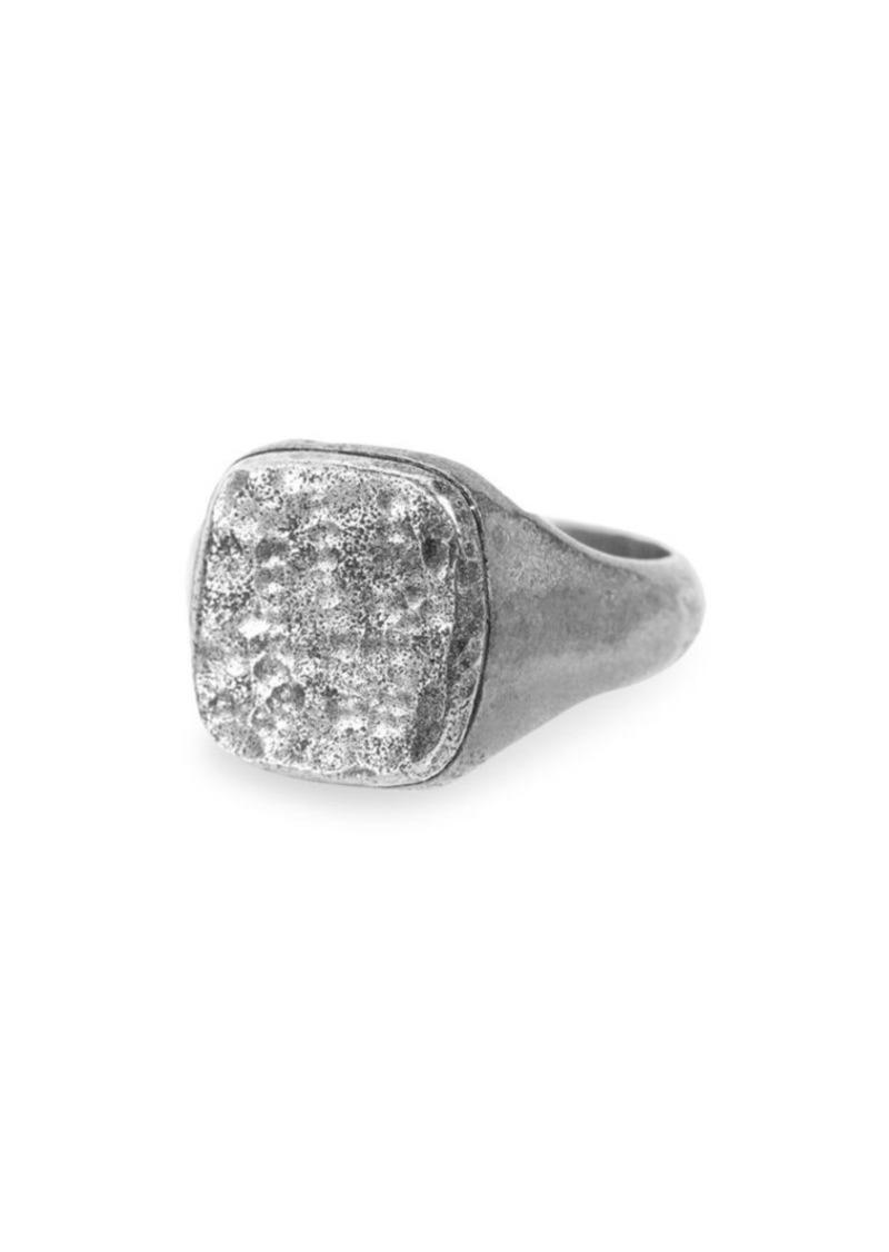 John Varvatos Artisan Metals Sterling Silver Signet Ring