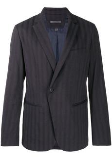 John Varvatos asymmetric one button jacket