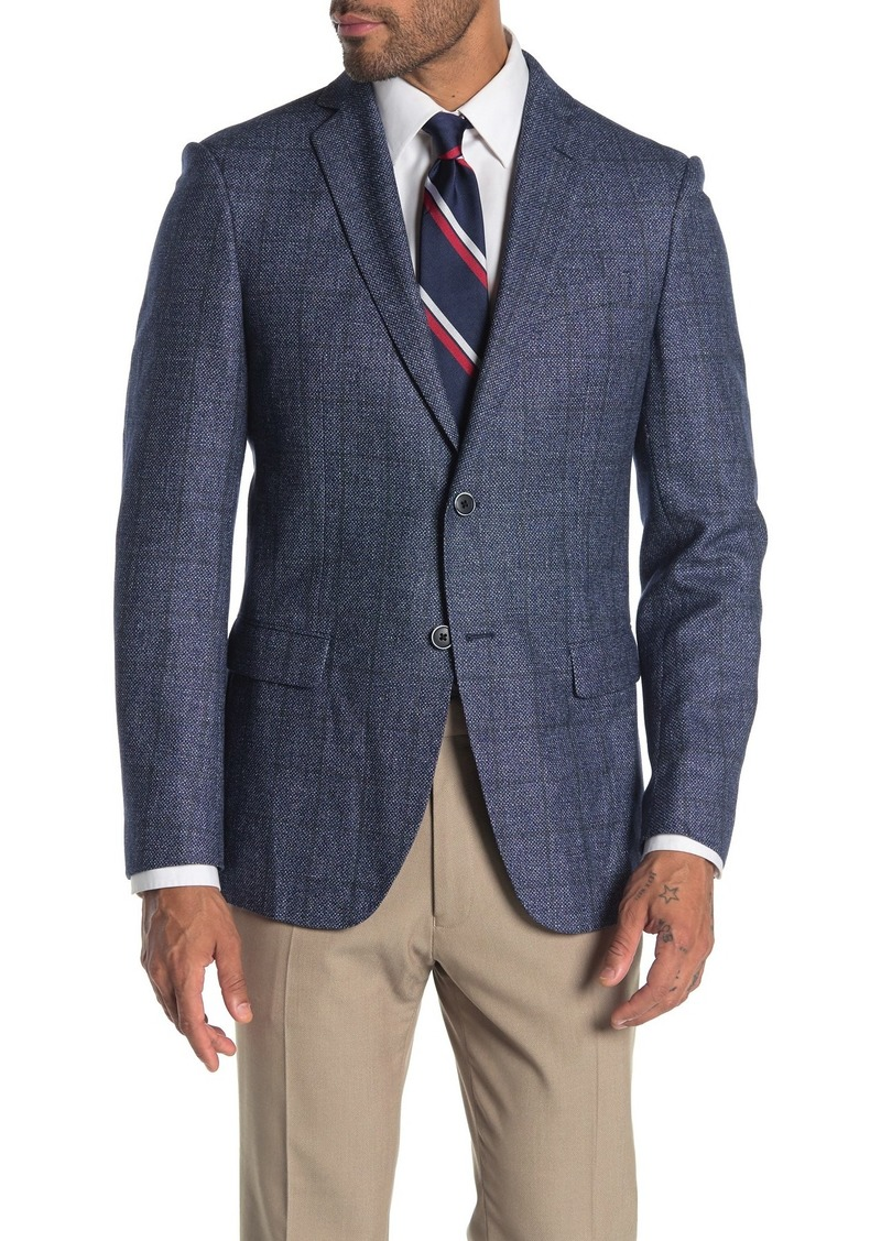 John Varvatos Baxter Check Notch Collar Wool & Linen Suit Separate Sportcoat