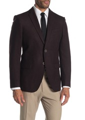 John Varvatos Baxter Solid Notch Collar Wool Suit Separate Sportcoat