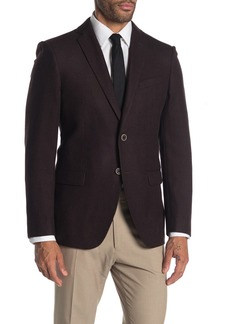 John Varvatos Baxter Solid Notch Collar Wool Suit Separate Sportcoat
