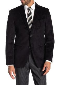 John Varvatos Bedford Black Pattern Two Button Notch Lapel Jacket