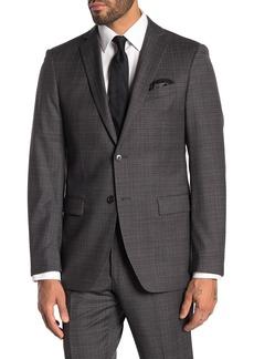 John Varvatos Bedford Charcoal Grid Two Button Notch Lapel Suit Separates Jacket