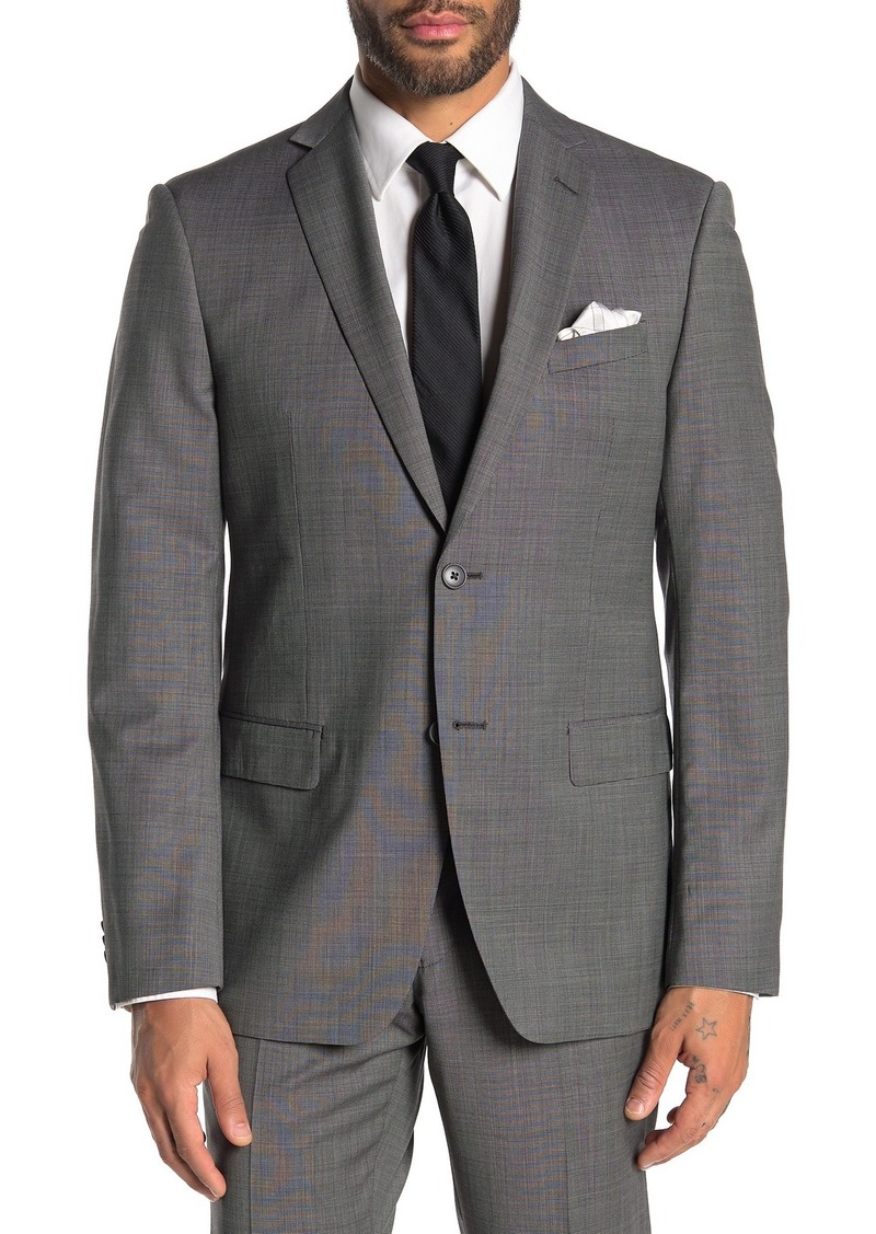 John Varvatos Bedford Grey Birdseye Two Button Notch Lapel Suit Separates Jacket
