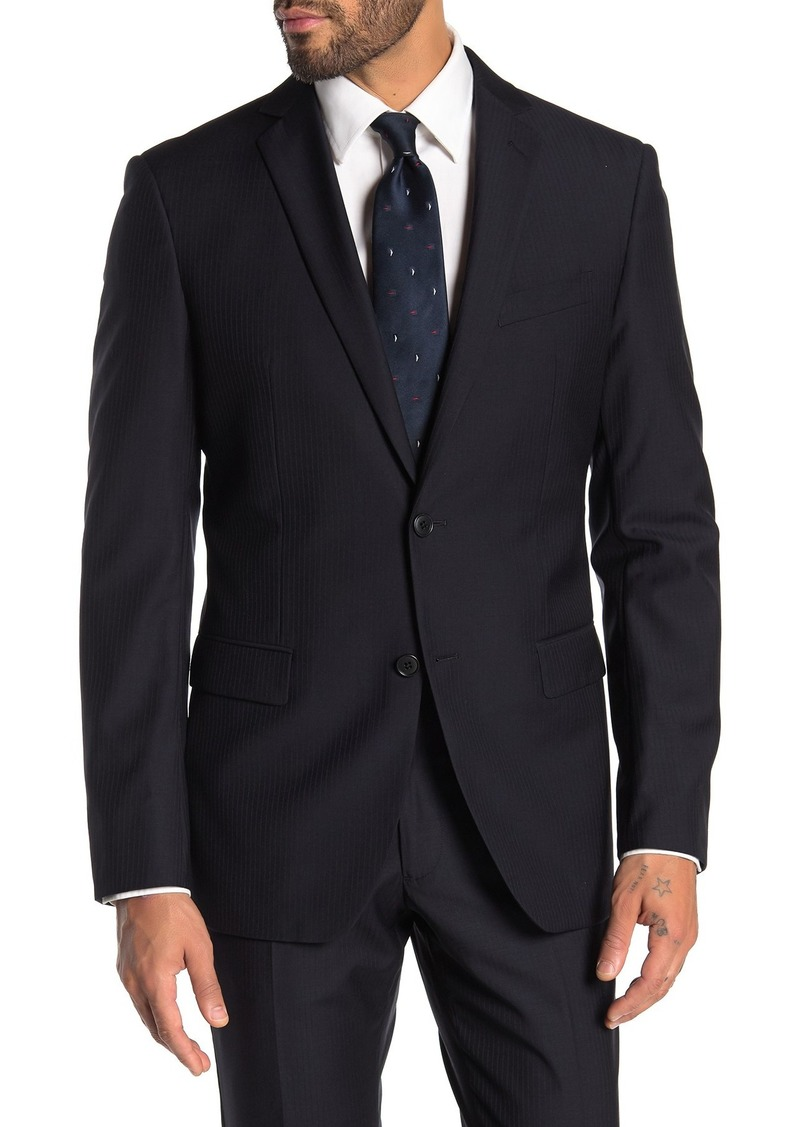 John Varvatos Bedford Navy Pinstripe Two Button Notch Lapel Suit Separates Jacket