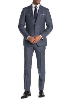 John Varvatos Bedford Sharkskin Jacket & Pants 2-Piece Suit