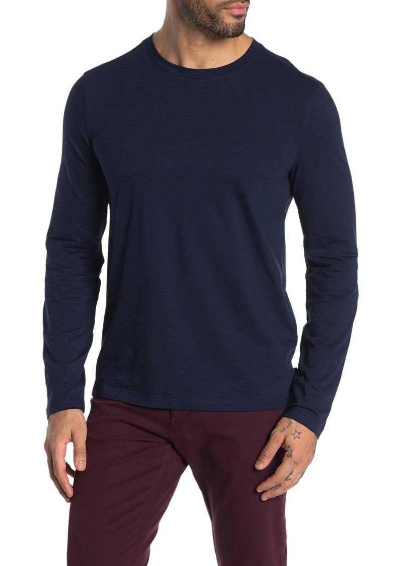 John Varvatos Bloomington Long Sleeve Feeder Stripe Pullover