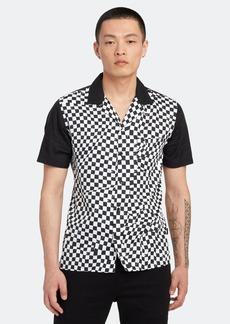 John Varvatos Bobby Short Sleeve Bowling Shirt