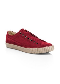 John Varvatos Bootleg Washed Suede Low-Top Sneakers