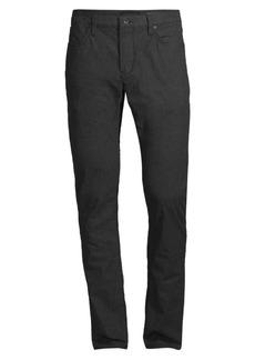 John Varvatos Bowery Slim-Fit Straight-Leg Pinstripe Pants