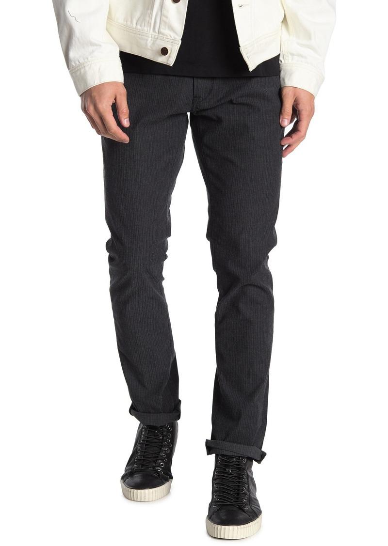 John Varvatos Bowery Stripe Slim Straight Jeans