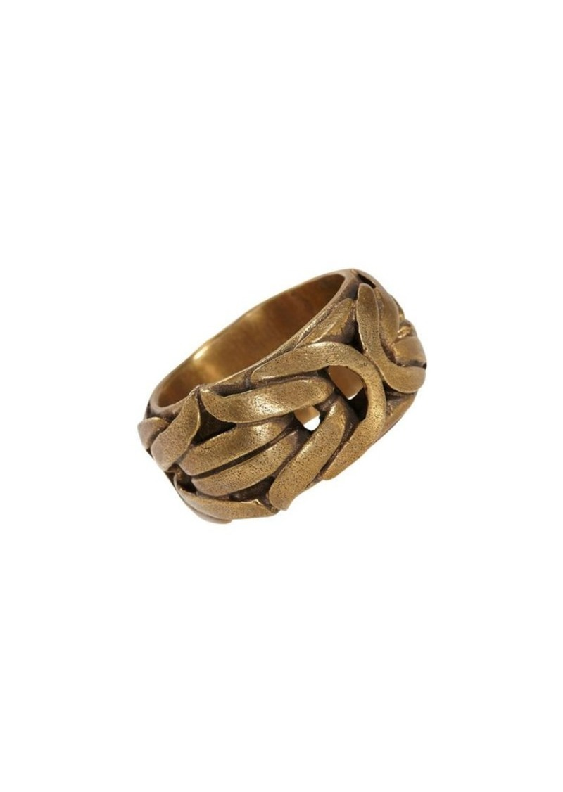 John Varvatos Braid Brass Braided Ring