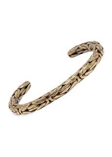 John Varvatos Braid Brass Open Cuff Bracelet