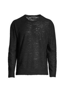 John Varvatos Burnout Crewneck Sweater