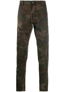 John Varvatos camouflage print trousers