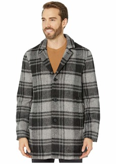 John Varvatos Carsen Car Coat in Plaid Wool Blend O1848V3B