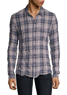 John Varvatos Check Plaid Button-Down Shirt