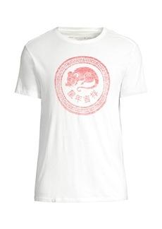 John Varvatos Chinese New Year Rat Circle T-Shirt